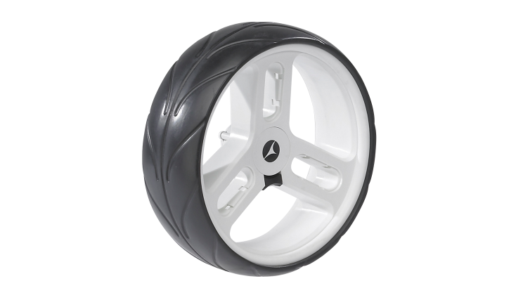 Motocaddy Pro Series Rear Wheel White Right
