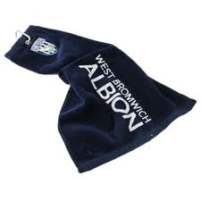 Official West Bromwich Albion Tri Fold Golf Bag Towel
